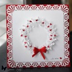 red and white handmade card