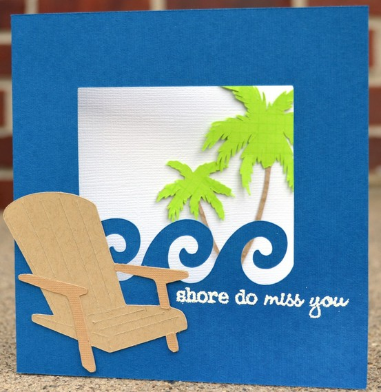 30 great ideas for handmade cards seaside handmade card thecheapjerseys Image collections