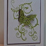 green butterfly handmade card