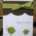 green handmade card