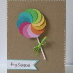 lollipop handmade card