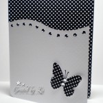black and yellow butterfly handmade card