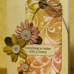 nice hand made card with flowers