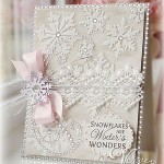 white handmade card