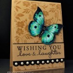 wishing you, butterfly handmade card