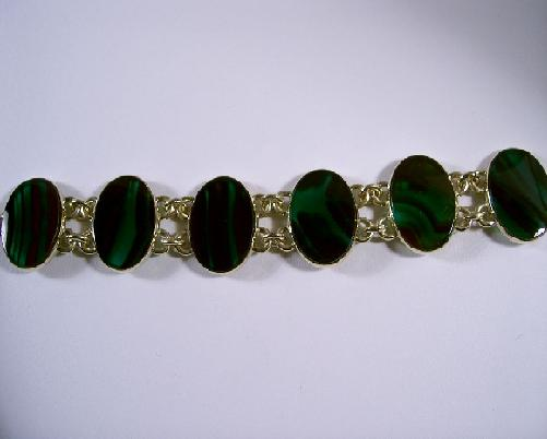 green and black stone jewelry