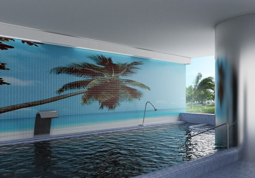 mosaic tile swimming pool