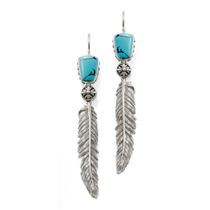 turquoise feather jewelry