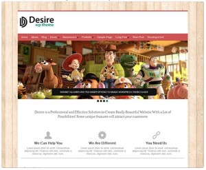 Desire Portfolio WordPress Theme