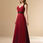 burgundy bride gown