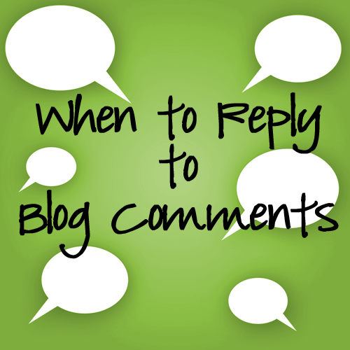 reply to blog comments