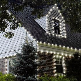 RopeLights for roof and windows