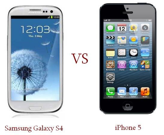 samsung s4 vs iphone 5