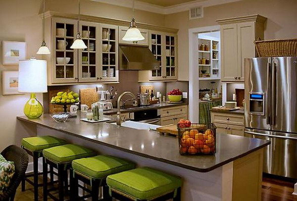 Kitchen design in summer