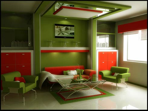 living-room-with-red-and-green-color-ideas