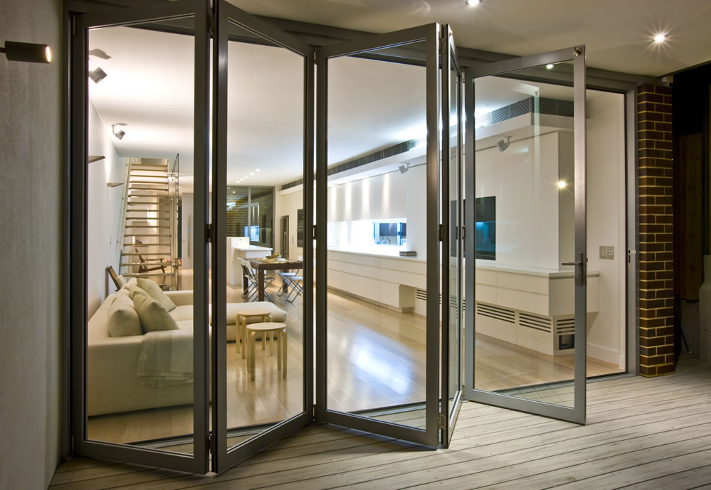 Modern design features of interior bifold doors designer mag for Interior folding doors