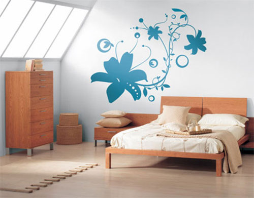 flower on wall - Wall Art Design