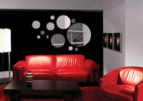 wall stickers mirror wall design