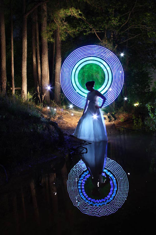 Dennis Calvert Light Painting Art