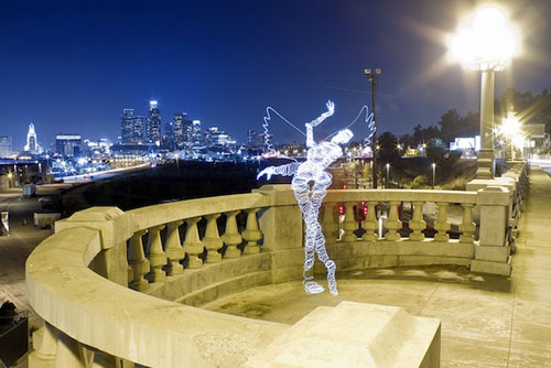 Person Light Painting