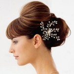 floral fancy wedding hairstyle