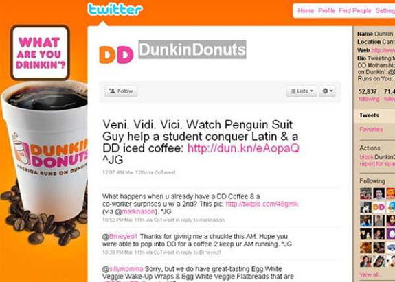 Dunkin Donuts - Amazing Twitter Backgrounds