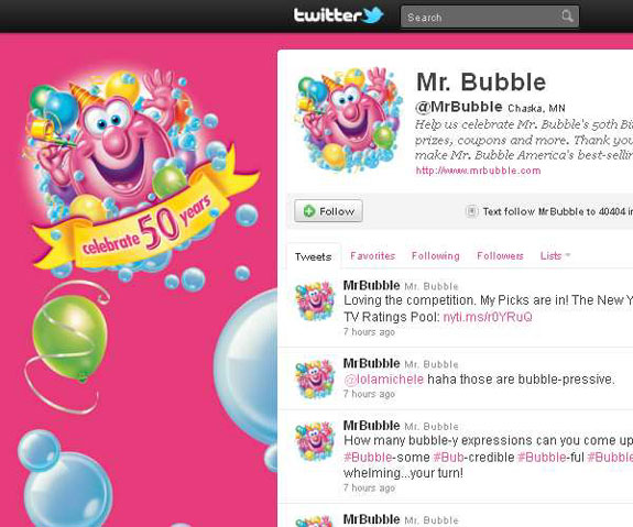 Mr Bubble - Amazing Twitter Backgrounds