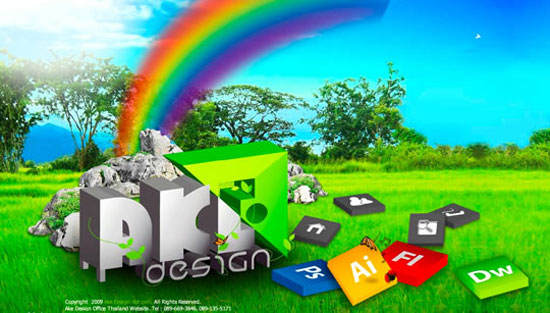 Akedesignac - Awesome Bright and Colorful Website Designs Free