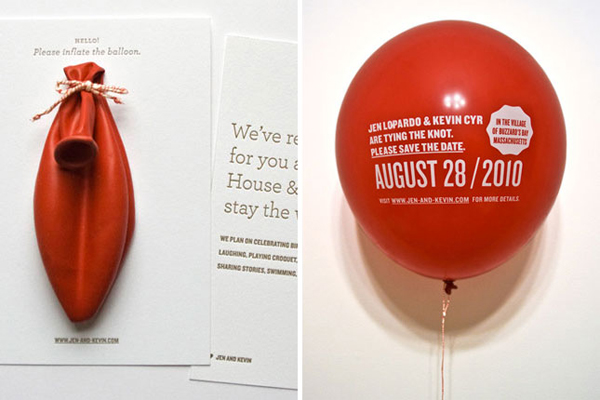 Balloon Invitations - Creative Invitation Card Designs