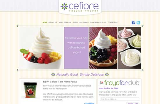 Cefiore - Designs for Food Websites