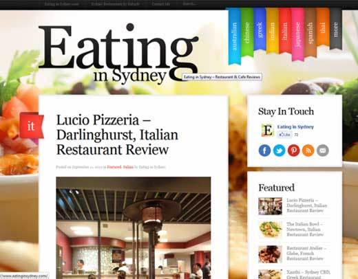 Eating in Sydney - Beautiful Big Backgrounds For Your Websites