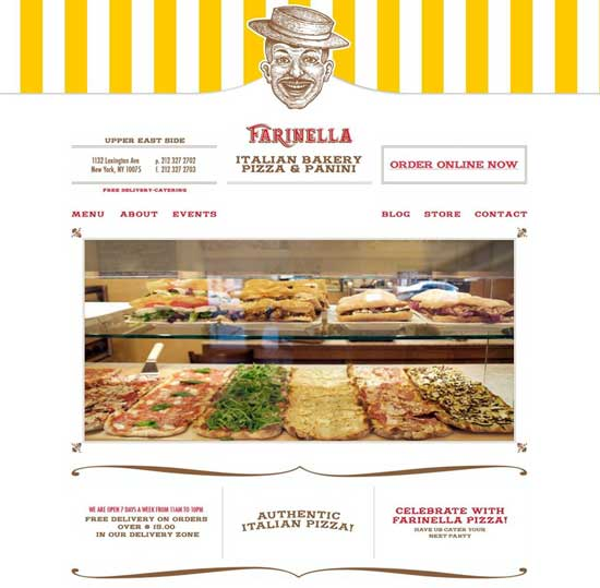 Farinella Bakery - Designs for Food Websites