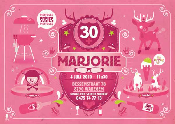 Marjorie's 30th Birthday Invitation