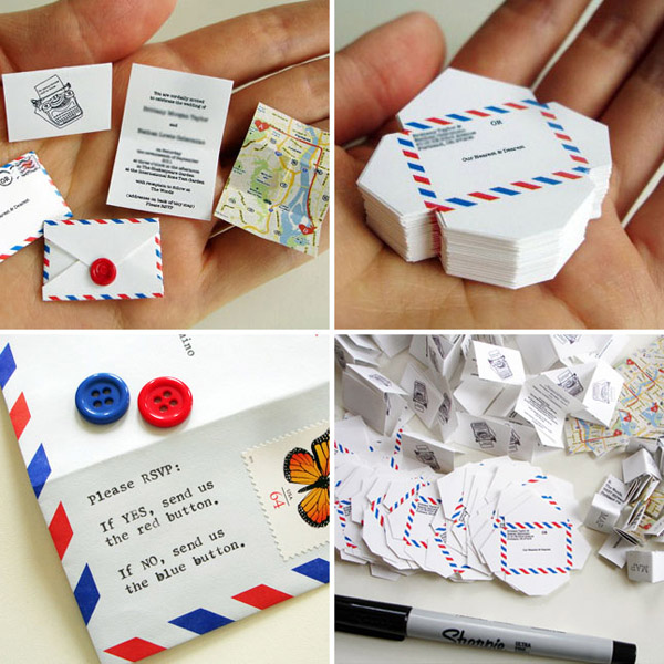 Tiny Airmail Invitations - Creative Invitation Card Designs