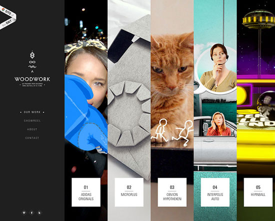 Woodwork - Awesome Bright and Colorful Website Designs Free