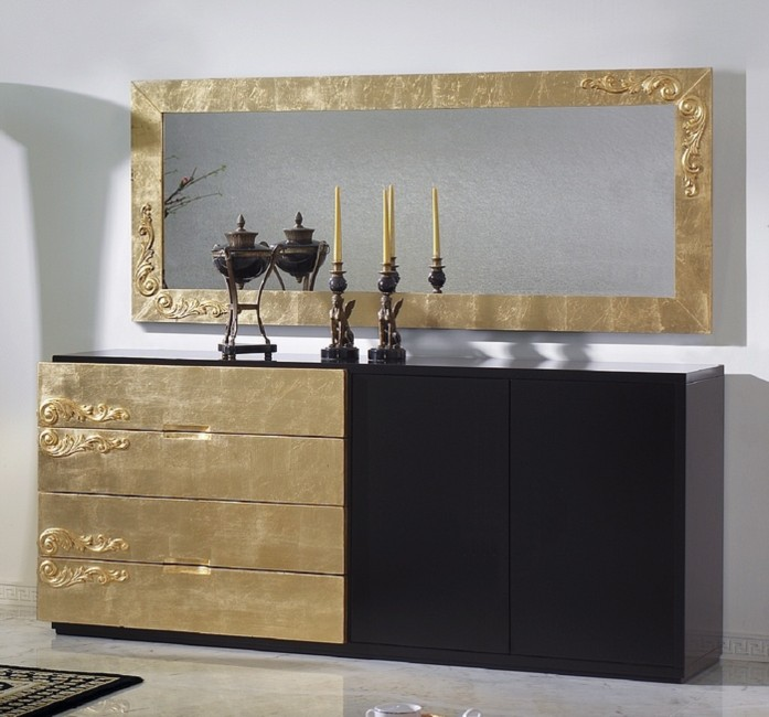 black_and_gold_sideboard Paint Kitchen Makeover Ideas on table ideas paint, party ideas paint, bedroom ideas paint, painting ideas paint,