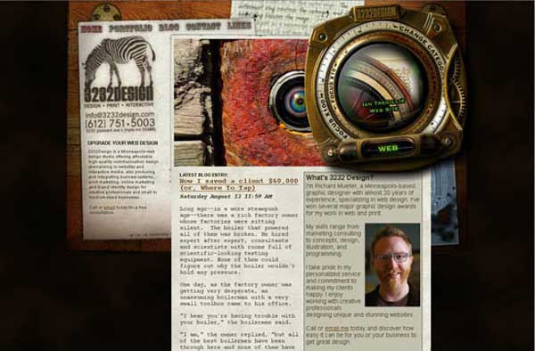 design-steampunk-web-design - Art Web Site Designs