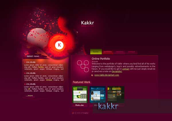 portfolio-v1-web-design-ins - Art Web Site Designs