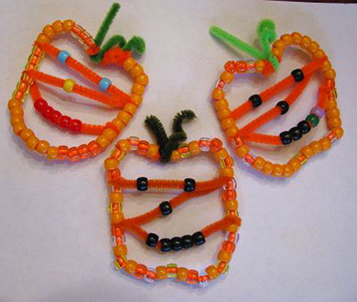 Beaded Pumpkin - Halloween Crafts