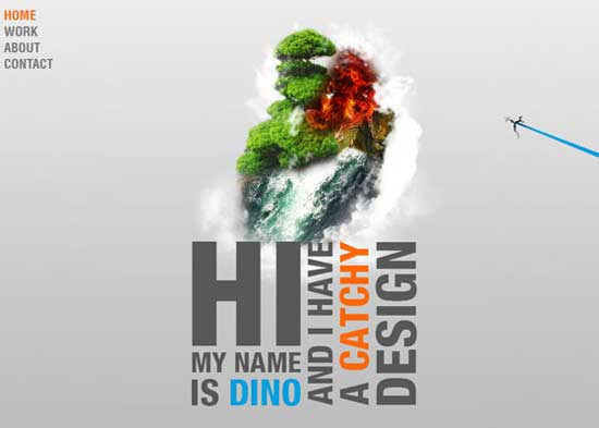Dino zara - Beautiful Parallax Scrolling Effects