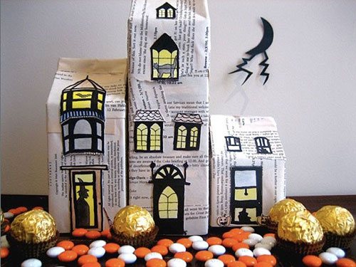Haunted-House - Halloween Craft Ideas