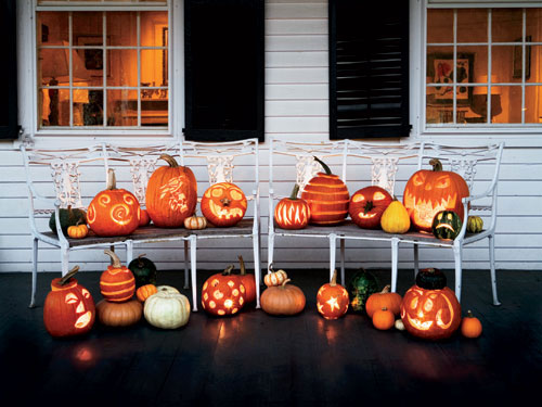 assorted-pumpkins-carved-ha - Halloween Decoration Ideas