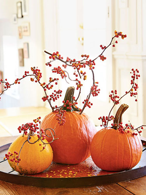 45 halloween decoration ideas designer mag for Simple pumpkin centerpieces