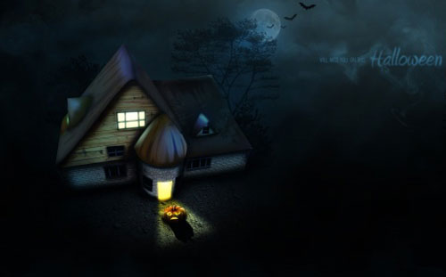halloween_house - Halloween Desktop Wallpapers