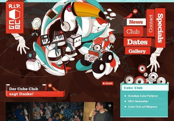 R.I.P Cube Club - Inspiring Examples of Typography in Web Design