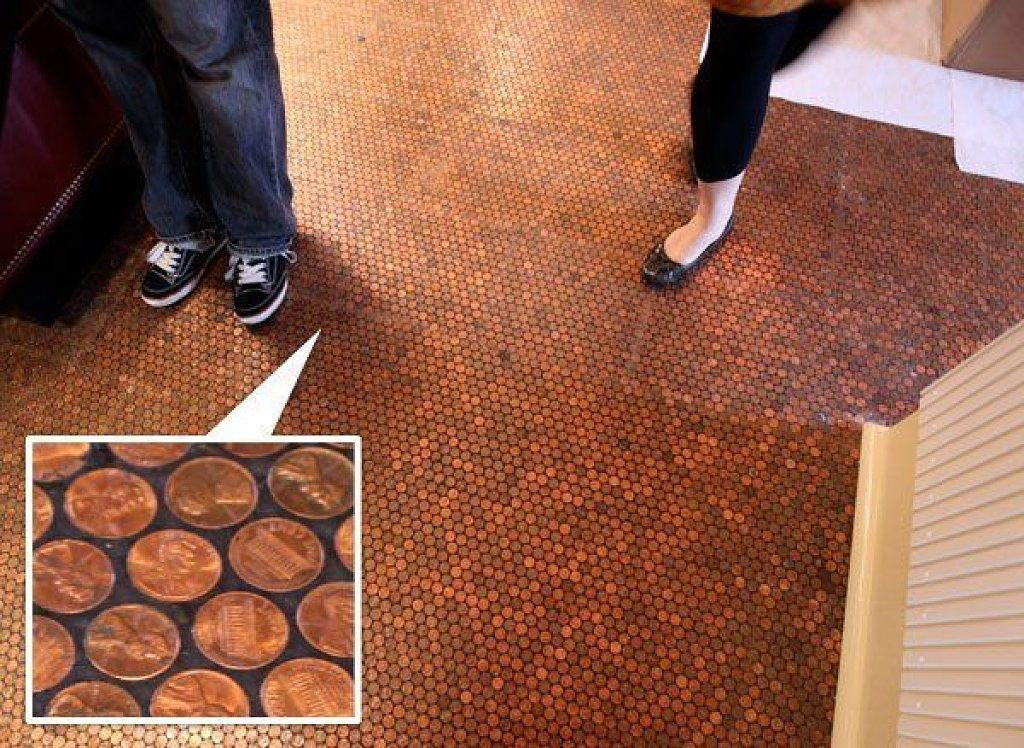 Even though the penny floor of New York's Standard Hotel (actually located  in the hotel's