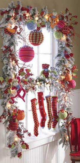 Pics Of Christmas Decorations Ideas : How to decorate windows for holidays designer mag
