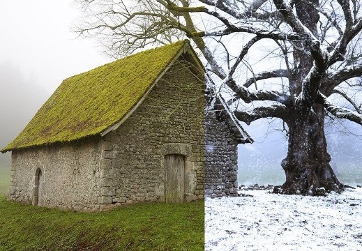 conver summer to winter in photoshop