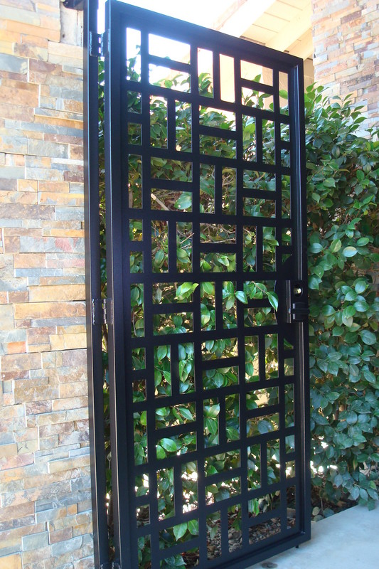 Contemporary Wooden Garden Gate Joy Studio Design