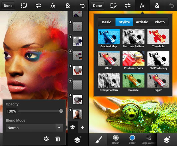 how to create android app design in photoshop